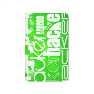 Hacker; Neon Green Stripes Journal