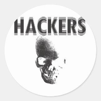 Hackers Classic Round Sticker
