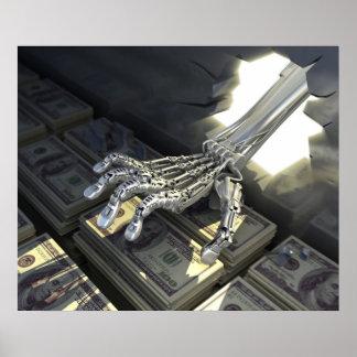 Hackers rob bank poster