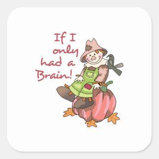 Had A Brain! Square Sticker