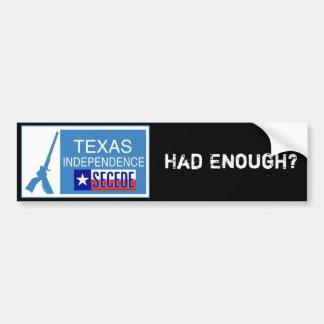 Had Enough? Secede! Bumper Sticker