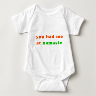 had me at namaste baby bodysuit