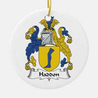 Haddon Family Crest Ceramic Ornament