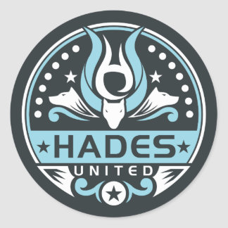 Hades United Logo Navy Blue Classic Round Sticker