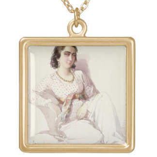 Hadice Hanim - lady from Istanbul, 1852 Gold Plated Necklace