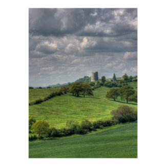 Hadleigh Castle Summer Landscape Poster