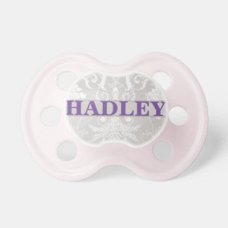 """""""Hadley"""" Personalized Vintage Damask Baby Pacifiers"""