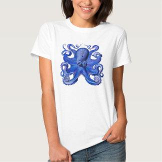 Haeckel Octopus Blue Tee Shirt
