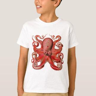 Haeckel Octopus Red T Shirt