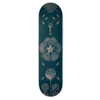 Haeckel's Blue Custom Skateboard