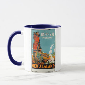 'Haere Mai (Welcome) to New Zealand' Travel Poster Mug