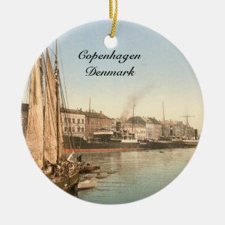 Hafenstrasse in Copenhagen Ceramic Ornament