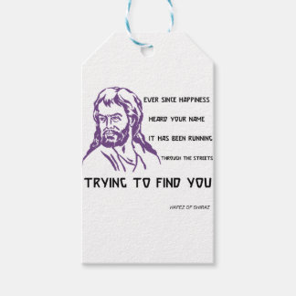 hafez quote gift tags