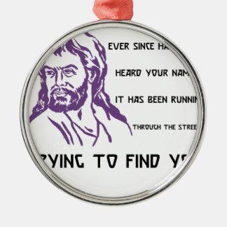 hafez quote metal ornament