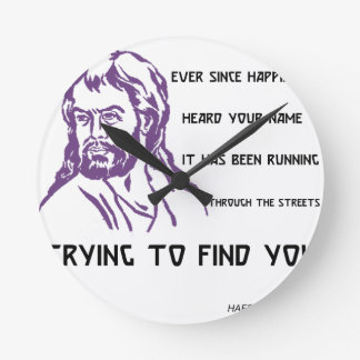 hafez quote wall clock