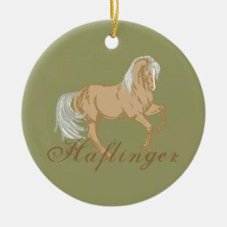 Haflinger Horse Ceramic Ornament