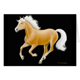 Haflinger Palomino Horse Card