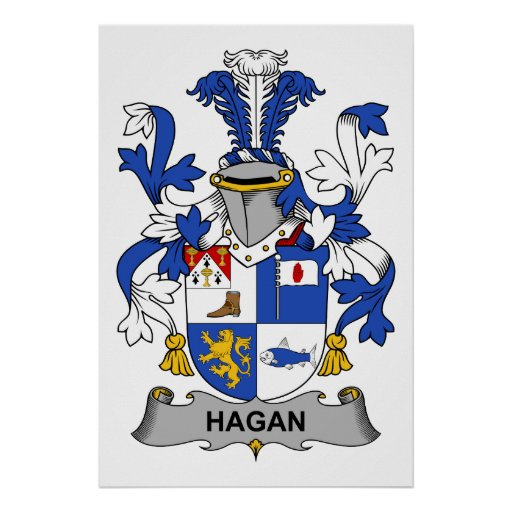 Hagan Family Crest Poster