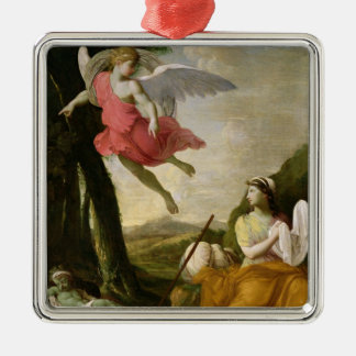 Hagar and Ishmael Rescued by the Angel, c.1648 Metal Ornament