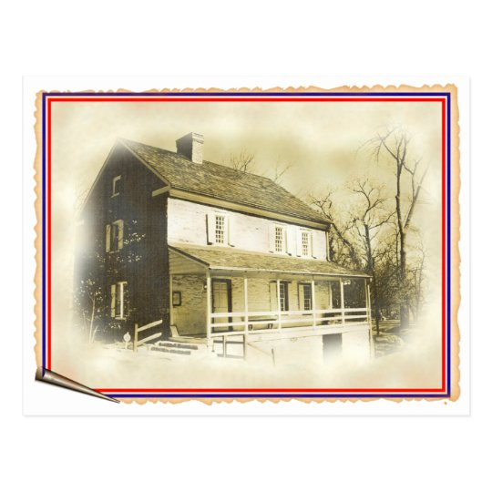 Hager House Colonial Home Postcard