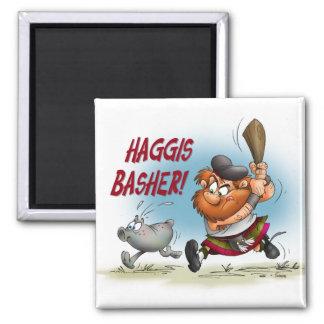 Haggis Basher Square Magnet