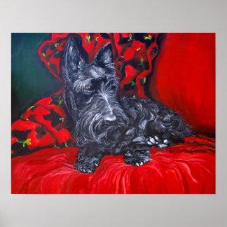 Haggis the Scottish Terrier Poster