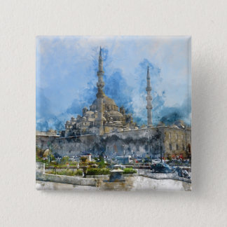 Hagia Sophia in Istanbul Turkey 2 Inch Square Button