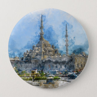Hagia Sophia in Istanbul Turkey 4 Inch Round Button