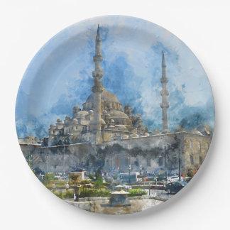 Hagia Sophia in Istanbul Turkey 9 Inch Paper Plate