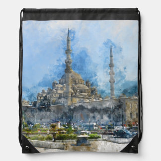 Hagia Sophia in Istanbul Turkey Drawstring Bag