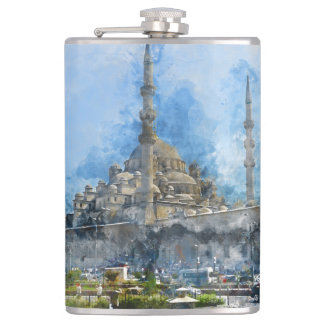 Hagia Sophia in Istanbul Turkey Hip Flask