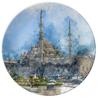 Hagia Sophia in Istanbul Turkey Porcelain Plate