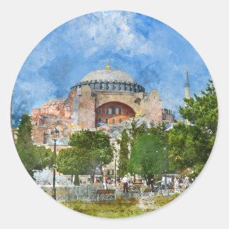 Hagia Sophia in Sultanahmet, Istanbul Classic Round Sticker