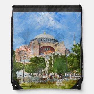 Hagia Sophia in Sultanahmet, Istanbul Drawstring Bag