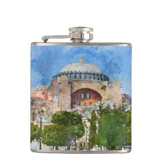 Hagia Sophia in Sultanahmet, Istanbul Hip Flask