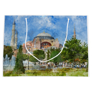 Hagia Sophia in Sultanahmet, Istanbul Large Gift Bag