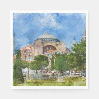 Hagia Sophia in Sultanahmet, Istanbul Paper Napkin