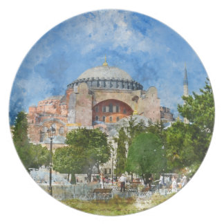 Hagia Sophia in Sultanahmet, Istanbul Plate