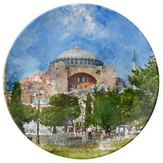 Hagia Sophia in Sultanahmet, Istanbul Porcelain Plate