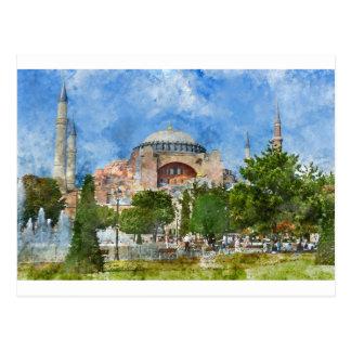 Hagia Sophia in Sultanahmet, Istanbul Postcard