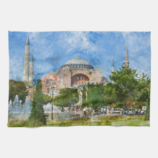 Hagia Sophia in Sultanahmet, Istanbul Turkey Kitchen Towel