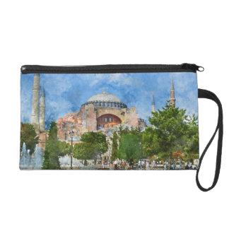 Hagia Sophia in Sultanahmet, Istanbul Turkey Wristlet Clutch