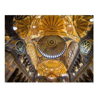 Hagia Sophia Interior in Istanbul Postcard