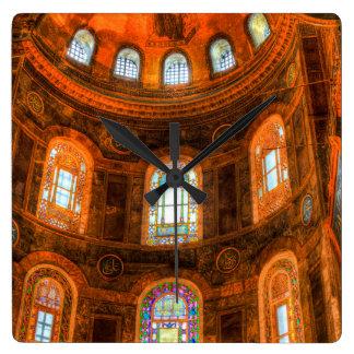Hagia Sophia Istanbul Square Wall Clock