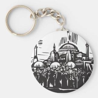 Hagia Sophia Basic Round Button Keychain
