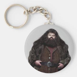 Hagrid and Dog Basic Round Button Keychain