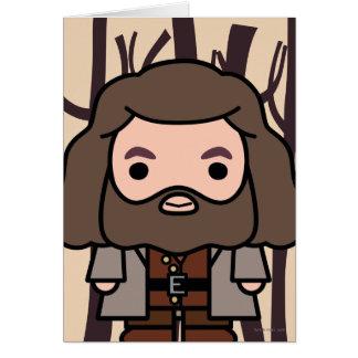 Hagrid Cartoon Character Art Card