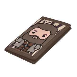 Hagrid Cartoon Character Art Tri-fold Wallets