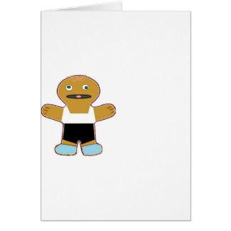 haha ginger bread man card