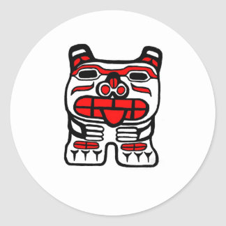 Haida Bear Classic Round Sticker